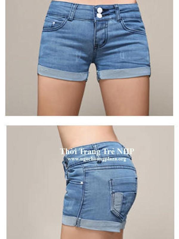 Quần short jean nữ lưng cao đẹp giá rẻ